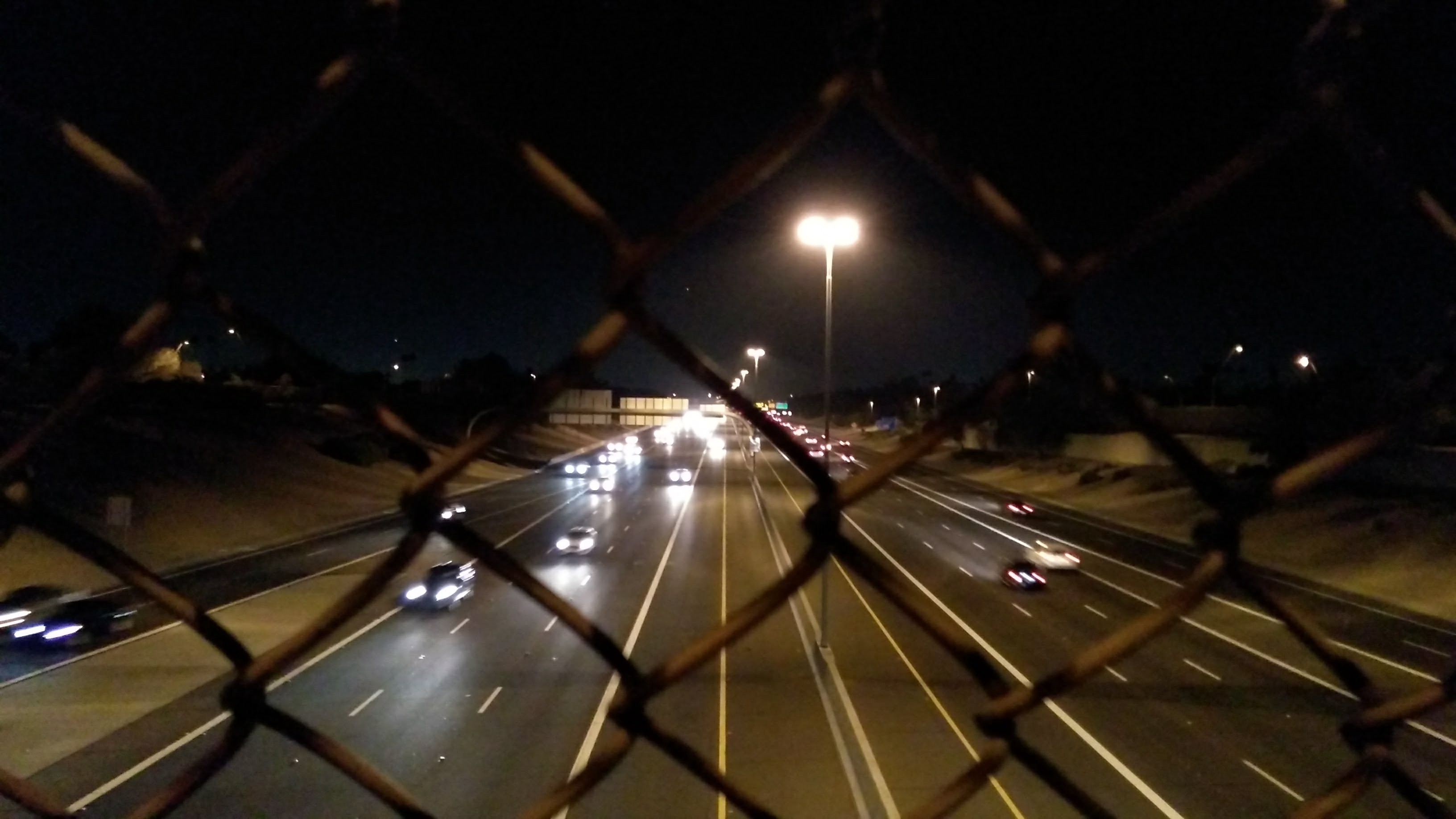 The Price Avenue / Route 101 at night.